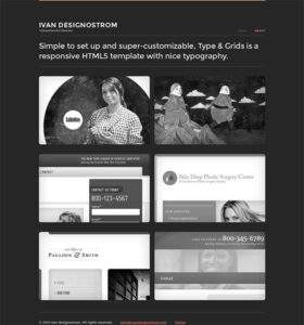 Type & Grids - Free Responsive HTML5 Template