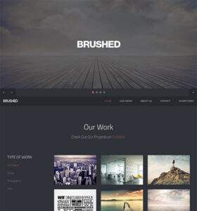 Brushed - Free Responsive HTML5 Template