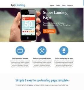 App Landing - Free Responsive HTML5 Template