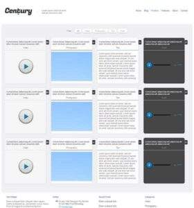 Century - Free Responsive HTML5 Template