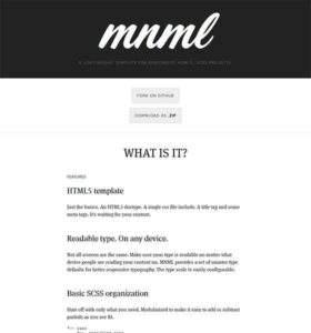 Mnml - Free Responsive HTML5 Template