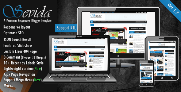 Download Sevida v1.7 Blogger Template - Latest Version